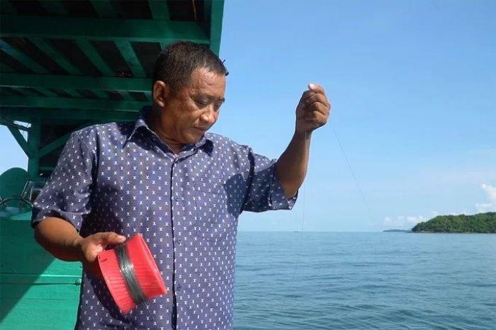 Lặn bắt và ăn nhum biển ở đảo hải tặc