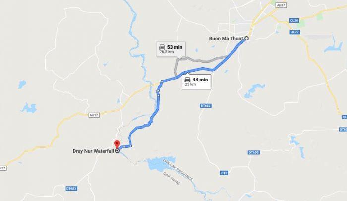 Hướng dẫn đường đến thác Đray Nur đẹp nhất ở Tây Nguyên - kysudulich.com