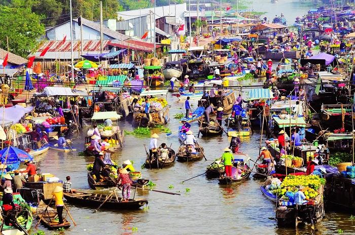 Du lịch An Giang: Khám phá chợ nổi Long Xuyên - AGQT