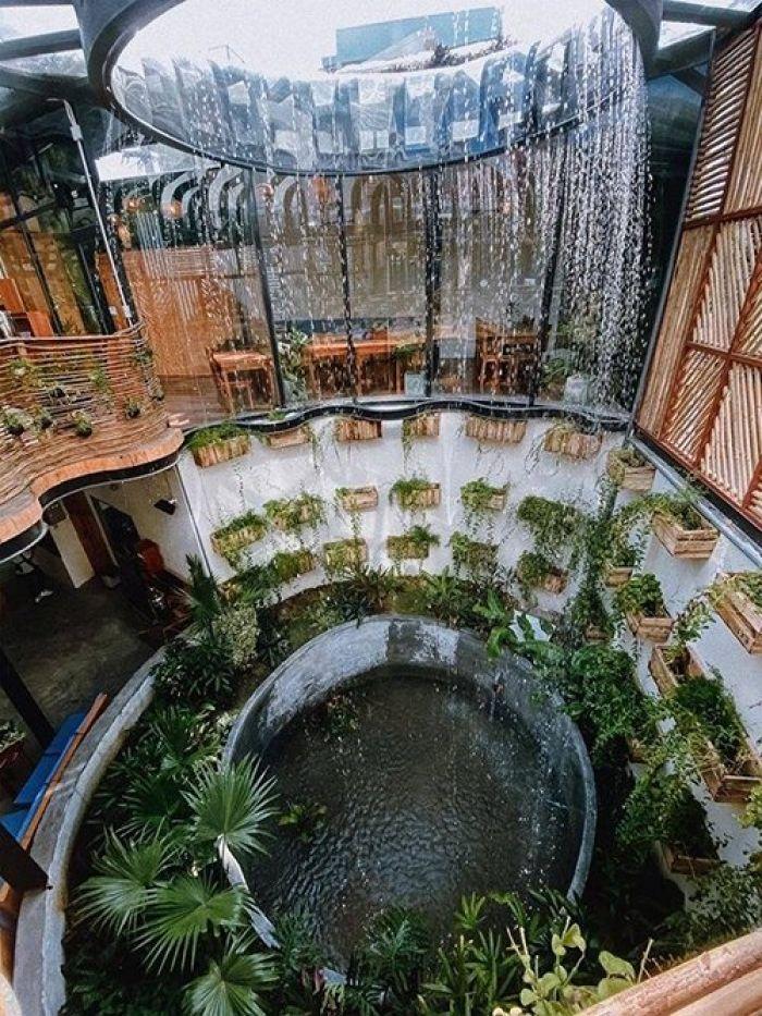 Quán cà phê Rain Forest - 'rừng mưa nhiệt đới' ở Nha Trang - kysudulich.com