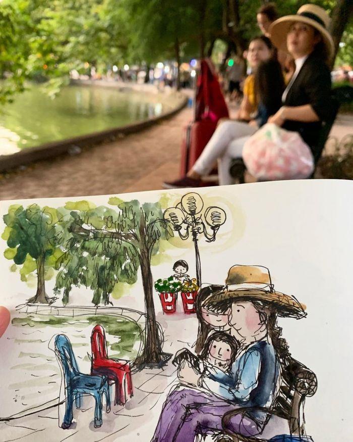 Hội An qua nét vẽ ký họa của du khách Tây - kysudulich.com